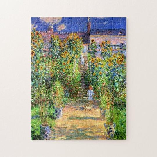 Claude Monet: Monet's Garden at Vétheuil Jigsaw Puzzle
