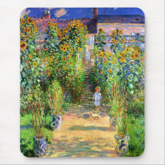 Claude Monet: Monet's Garden at Vétheuil Mouse Pad