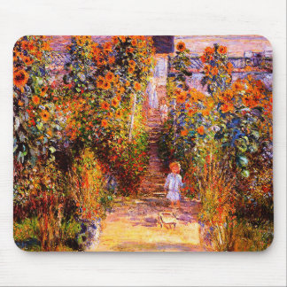 Claude Monet-Monet's Garden at Vétheuil Mouse Pad