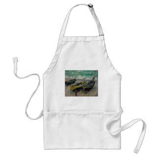 Claude Monet Painting Oil Canvas Artistic Nature Standard Apron