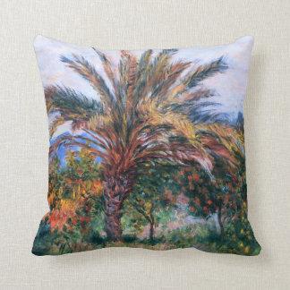 Claude Monet: Palm Tree at Bordighera Cushion