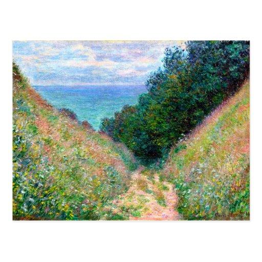 Claude Monet: Path at La Cavee Pourville Post Card