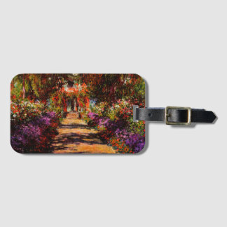 Claude Monet-Pathway in Monet's Garden at Giverny Luggage Tag