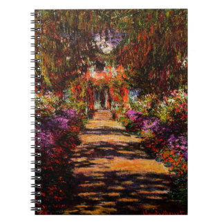 Claude Monet-Pathway in Monet's Garden at Giverny Spiral Note Book