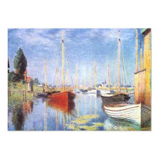 Claude Monet: Pleasure Boats at Argenteuil 13 Cm X 18 Cm Invitation Card