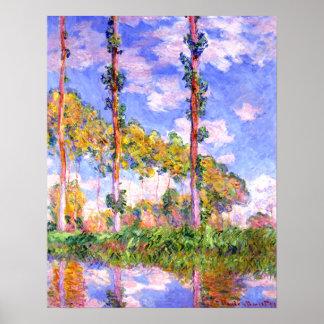 Claude Monet - Poplars in the Sun Posters