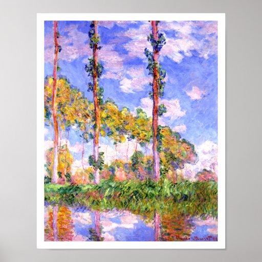 Claude Monet - Poplars in the Sun Poster