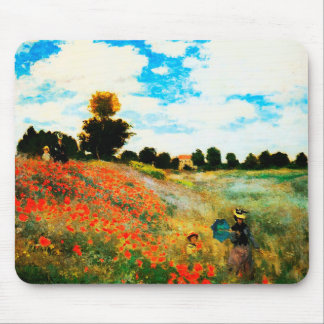 Claude Monet-Poppies at Argenteuil Mouse Pad