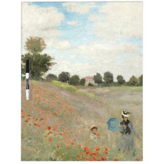 Claude Monet Poppy Field Flowers Dry Erase Board