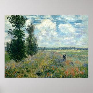 Claude Monet Poppy Fields Poster