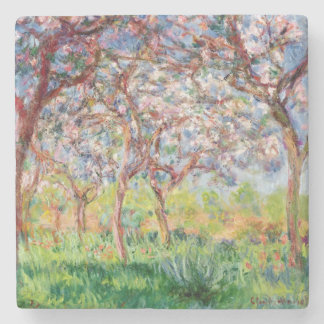Claude Monet | Printemps a Giverny Stone Coaster