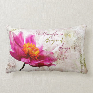 Claude Monet Quote I Must Have Flowers Always Lumbar Cushion