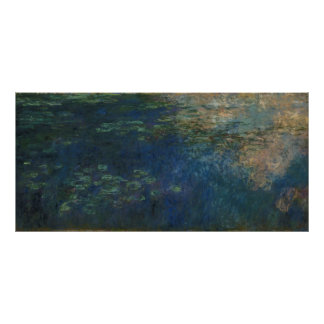 Claude Monet - Reflections of Clouds on the Water Poster