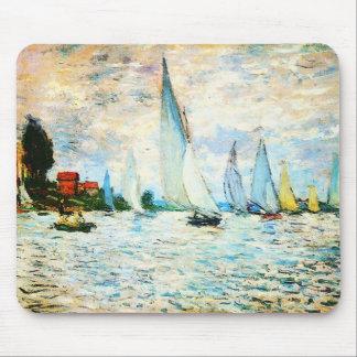 Claude Monet-Regatta at Argenteuil Mouse Pad