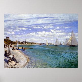 Claude Monet Regatta at Sainte-Adresse Poster