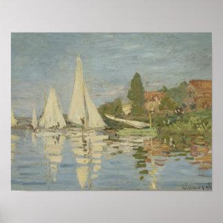 Claude Monet - Regattas at Argenteuil Poster