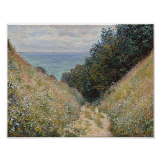 Claude Monet - Road at La Cavée, Pourville Poster