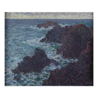 Claude Monet | Rocks at Belle-Ile, the Wild Coast Poster