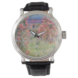 Claude Monet Rose Garden Wrist Watch
