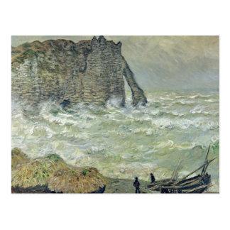 Claude Monet | Rough Sea at Etretat, 1883 Postcard