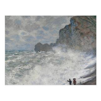 Claude Monet - Rough Weather at Étretat Postcard