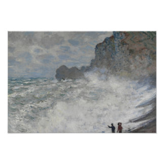 Claude Monet - Rough Weather at Étretat Poster