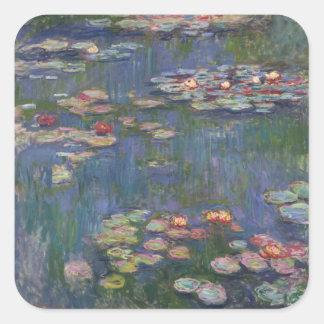 Claude Monet's Water Lilies Square Sticker