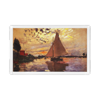 Claude Monet-Sailboat at Le Petit-Gennevilliers