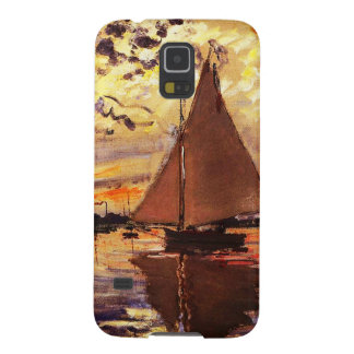 Claude Monet-Sailboat at Le Petit-Gennevilliers Cases For Galaxy S5