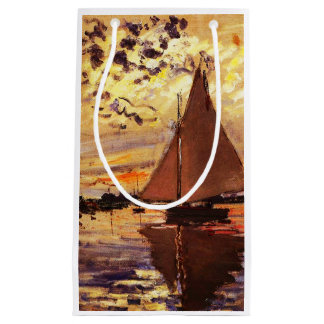 Claude Monet-Sailboat at Le Petit-Gennevilliers Small Gift Bag