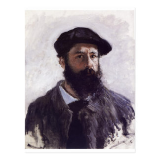 Claude Monet - Self-portrait in Beret 1886 Postcard