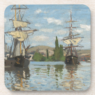 Claude Monet Ships Riding on the Seine at Rouen Coaster