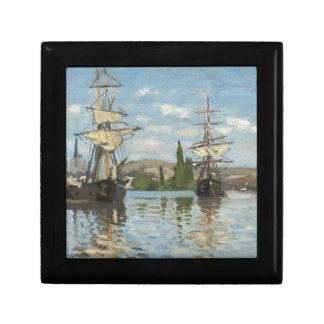 Claude Monet Ships Riding on the Seine at Rouen Gift Box