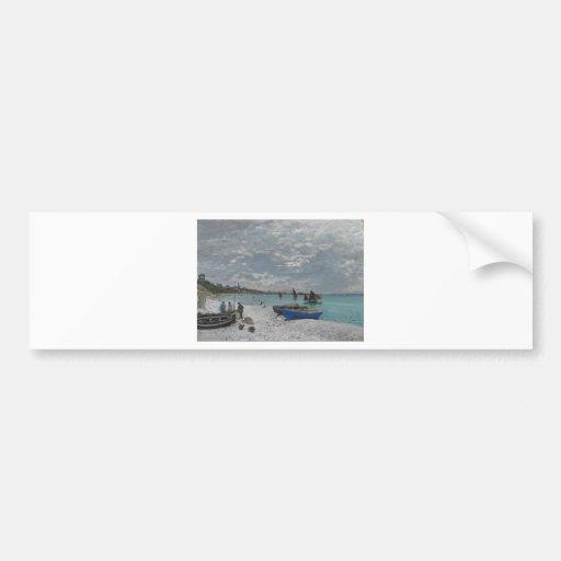 Claude Monet Sky Clouds Boats Ships Sea Ocean Bumper Stickers