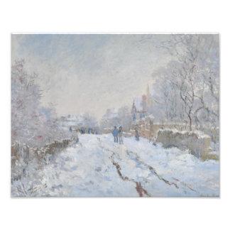 Claude Monet - Snow Scene at Argenteuil Art Photo
