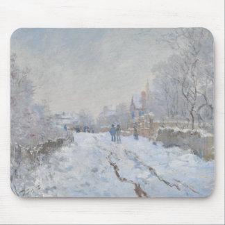 Claude Monet - Snow Scene at Argenteuil Mouse Pad