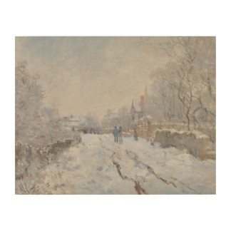 Claude Monet - Snow Scene at Argenteuil Wood Wall Art