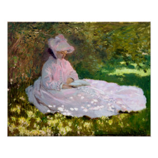 Claude Monet Springtime Impressionism Painting Poster