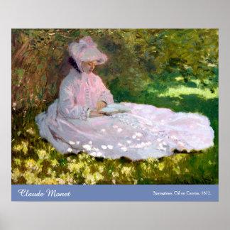 Claude Monet Springtime Impressionism Painting Poster