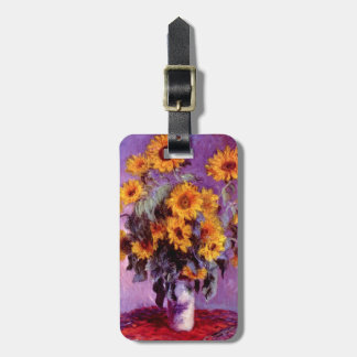 Claude Monet: Sunflowers Luggage Tag
