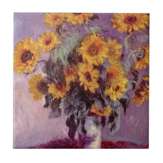Claude Monet // Sunflowers Tile