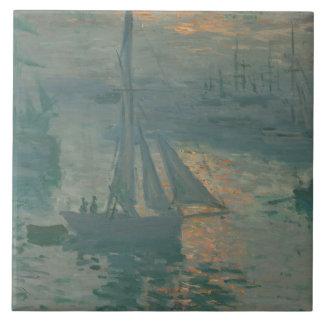 Claude Monet – Sunset (Marine) Tile