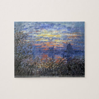 Claude Monet - Sunset on the Seine puzzle