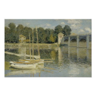 Claude Monet - The Argenteuil Bridge Poster