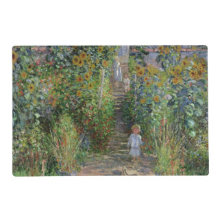 Claude Monet | The Artist's Garden at Vetheuil Laminated Placemat