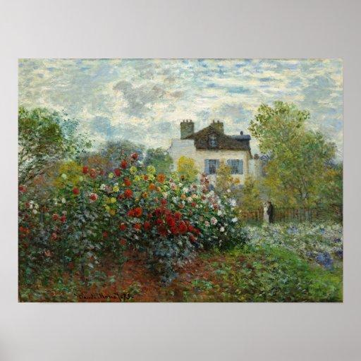 Claude Monet: The Artist's Garden in Argenteuil Print