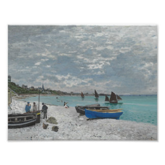 Claude Monet - The Beach at Sainte-Adresse Photo Print