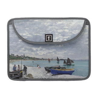 Claude Monet | The Beach at Sainte-Adresse Sleeve For MacBooks