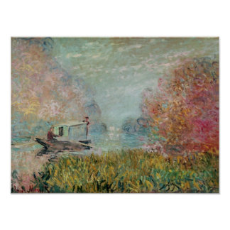 Claude Monet | The Boat Studio on the Seine, 1875 Poster