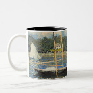 Claude Monet | The Bridge at Argenteuil Two-Tone Coffee Mug